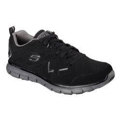 Men's Skechers Work Relaxed Fit Synergy Hosston Slip Resistant Black