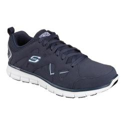 Men's Skechers Work Relaxed Fit Synergy Hosston Slip Resistant Navy
