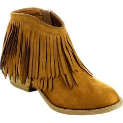 Women's Beston Jervis-FD Fringe Bootie British Tan Faux Suede