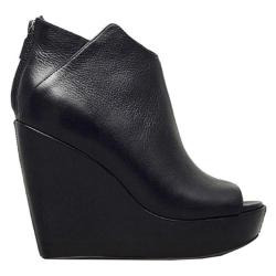 Women's Kenneth Cole New York Callaway Wedge Black Leather