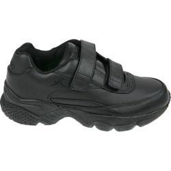 Men's Apex Double Strap Walker X Last Sneaker Black Full Grain Leather