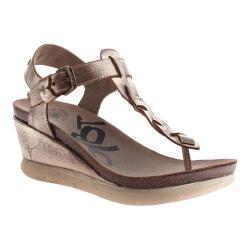 Women's OTBT Graceville Wedge Sandal Gold Leather