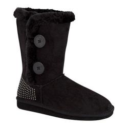 Women's Wild Diva Aling-43 Mid Calf Snow Boot Black Cotton/Faux Wool