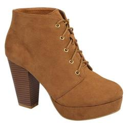 Women's Wild Diva Camille-86 Ankle Boot Tan Faux Suede