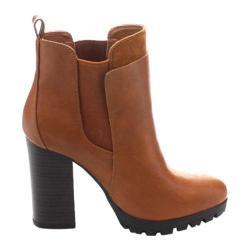 Women's Wild Diva Kimber-04 Chelsea Boot Whiskey Faux Leather