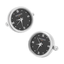 Men's Penny Black Fourty Functional Watch Cufflinks Stainless Steel