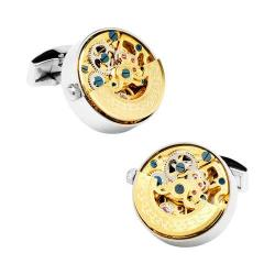 Men's Penny Black Fourty Stainless Steel Kinetic Watch Movement Cufflinks Stainless Steel/Gold/Silver