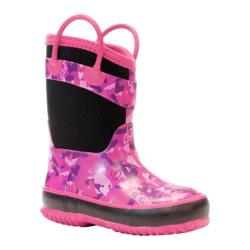 Girls' Western Chief Heart Camo Neoprene Boot Black