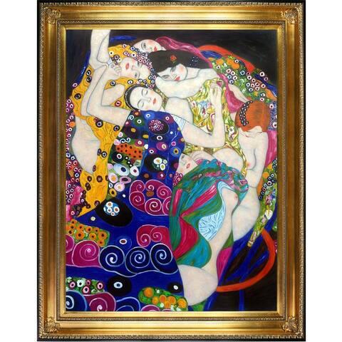 The Virgin by Gustav Klimt Framed Hand Painted Oil on Canvas