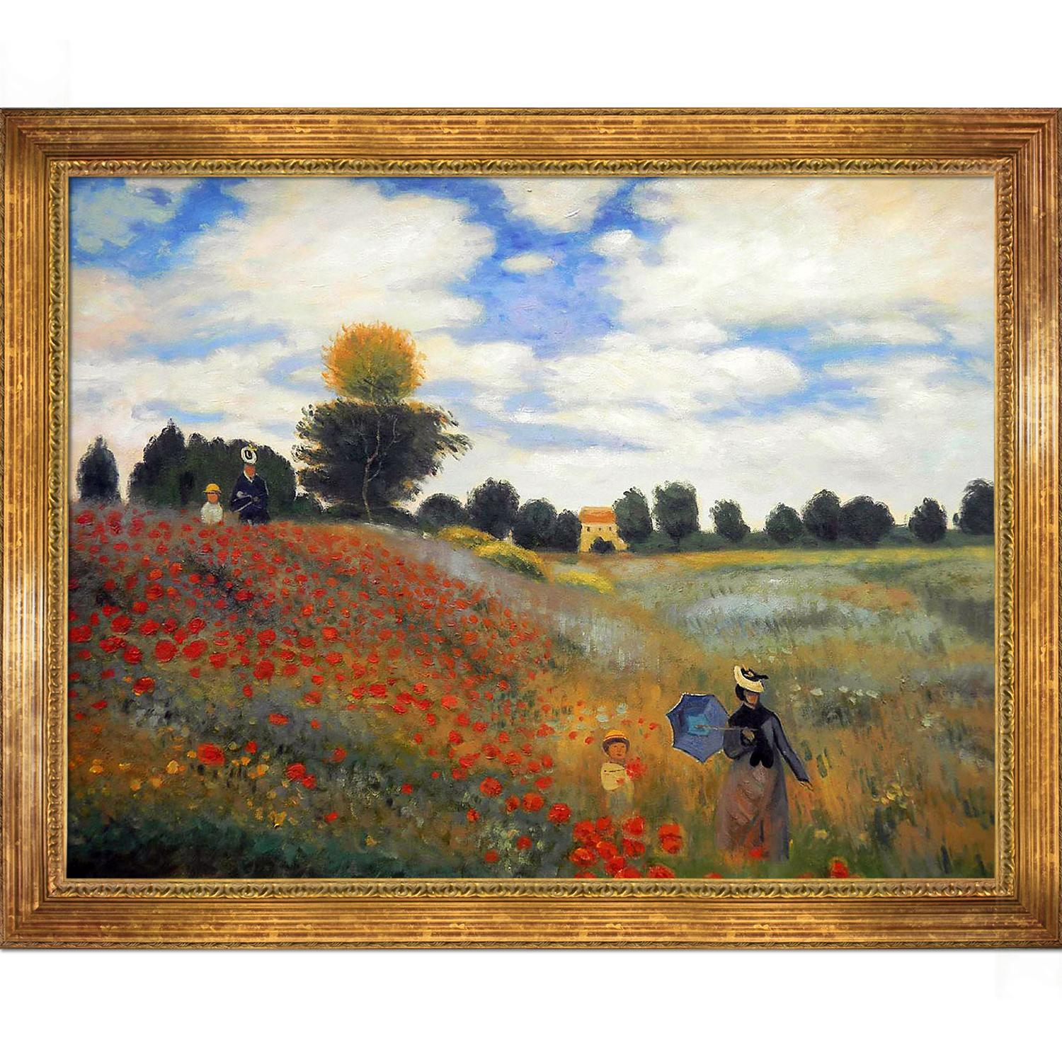 Poppy Field in Argenteuil by Claude Monet Framed Hand Painted Oil on Canvas