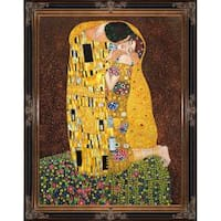 The Kiss (Full View) by Gustav Klimt Framed Hand Painted Oil on Canvas