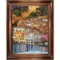 Malcesine on Lake Garda,1913 by Gustav Klimt Framed Hand Painted Oil on Canvas
