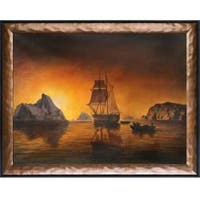 Arctic Scene by William Bradford Framed Hand Painted Oil on Canvas