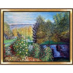 Corner of the Garden at Montgeron by Claude Monet Framed Hand Painted Oil on Canvas
