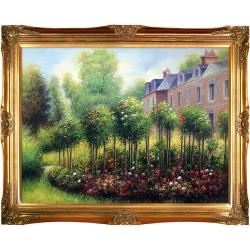 The Rose Garden at Wargemont, 1879 by Pierre Auguste Renoir Framed Hand Painted Oil on Canvas