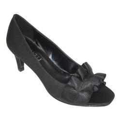 Women's VANELi Madora Open-Toe Pump Black Satin