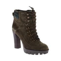 Women's Nine West Abrial Ankle Boot Dark Green/Dark Green Suede