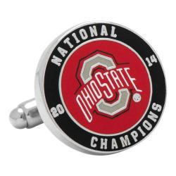 Men's Cufflinks Inc 2014 Ohio State Buckeyes Championship Cufflinks Red