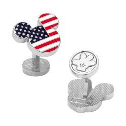 Men's Cufflinks Inc American Flag Mickey Cufflinks Multicolored