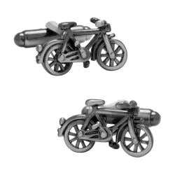 Men's Cufflinks Inc Bicycle Cufflinks CC-BICY Silver