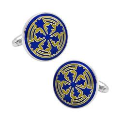 Men's Cufflinks Inc Blue Firenze Petal Cufflinks Blue