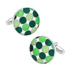 Men's Cufflinks Inc Green Polka Dot Cufflinks Green