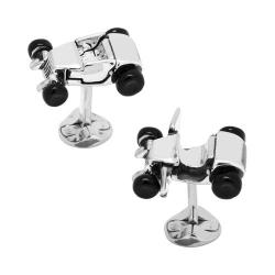 Men's Cufflinks Inc Hot Rod Car Cufflinks Silver