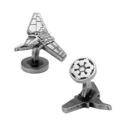 Men's Cufflinks Inc Imperial Shuttle Silver Etched Cufflinks Silver