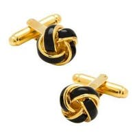 Men's Cufflinks Inc Knot Cufflinks Black/Gold