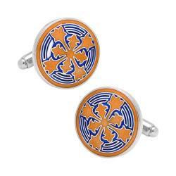 Men's Cufflinks Inc Orange Firenze Petal Cufflinks Orange