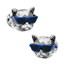 Men's Cufflinks Inc Party Animal Cat Cufflinks Silver