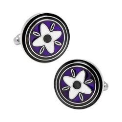 Men's Cufflinks Inc Purple and Black Twilight Star Cufflinks Purple
