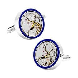 Men's Cufflinks Inc Silver & Lapis Inlaid Watch Movement Cufflinks Blue|https://ak1.ostkcdn.com/images/products/95/80/P17813675.jpg?impolicy=medium