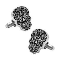 Men's Cufflinks Inc Silver Day of the Dead Cufflinks Silver