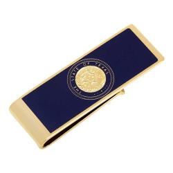Men's Cufflinks Inc State of Texas Seal Money Clip Gold
