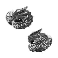 Men's Cufflinks Inc Sterling Silver Dragon Cufflinks Silver