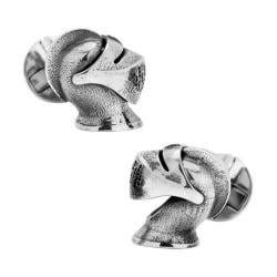 Men's Cufflinks Inc Sterling Silver Knight Helmet Cufflinks Silver