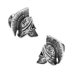 Men's Cufflinks Inc Sterling Silver Spartan Helmet Cufflinks Silver