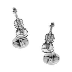 Men's Cufflinks Inc Sterling Silver Violin Cufflinks Silver