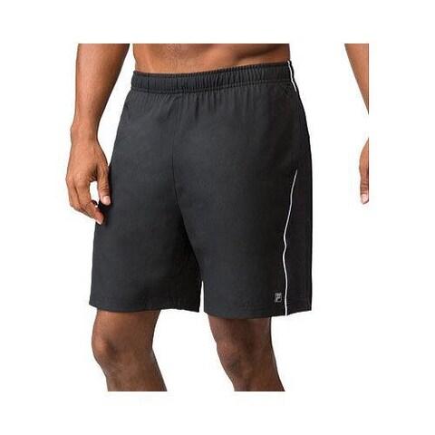 Men's Fila Core Tennis Short Black/White