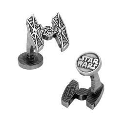 Men's Cufflinks Inc TIE Fighter Silver Etched Cufflinks Silver
