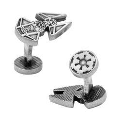 Men's Cufflinks Inc Tie Interceptor Silver Etched Cufflinks Silver