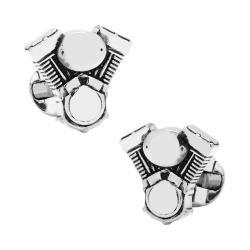 Men's Cufflinks Inc V-Twin Motor Cufflinks Silver