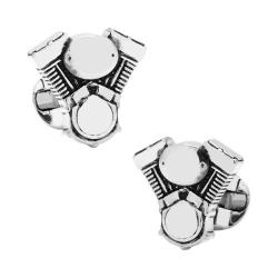 Men's Cufflinks Inc V-Twin Motor Cufflinks Silver
