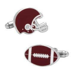 Men's Cufflinks Inc Varsity Football Cufflinks Maroon