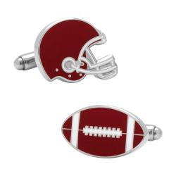 Men's Cufflinks Inc Varsity Football Cufflinks Red