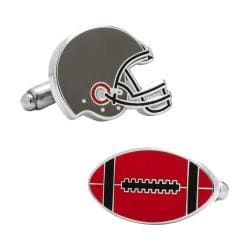Men's Cufflinks Inc Varsity Football Cufflinks Red/Black