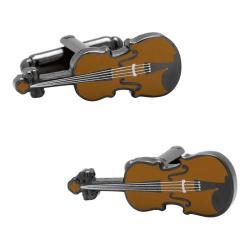 Men's Cufflinks Inc Violin Cufflinks Brown