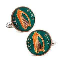 Men's Penny Black Fourty Irish Eire Coin Green/Orange