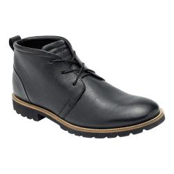 Men's Rockport Charson Lace Up Ankle Boot Black Leather